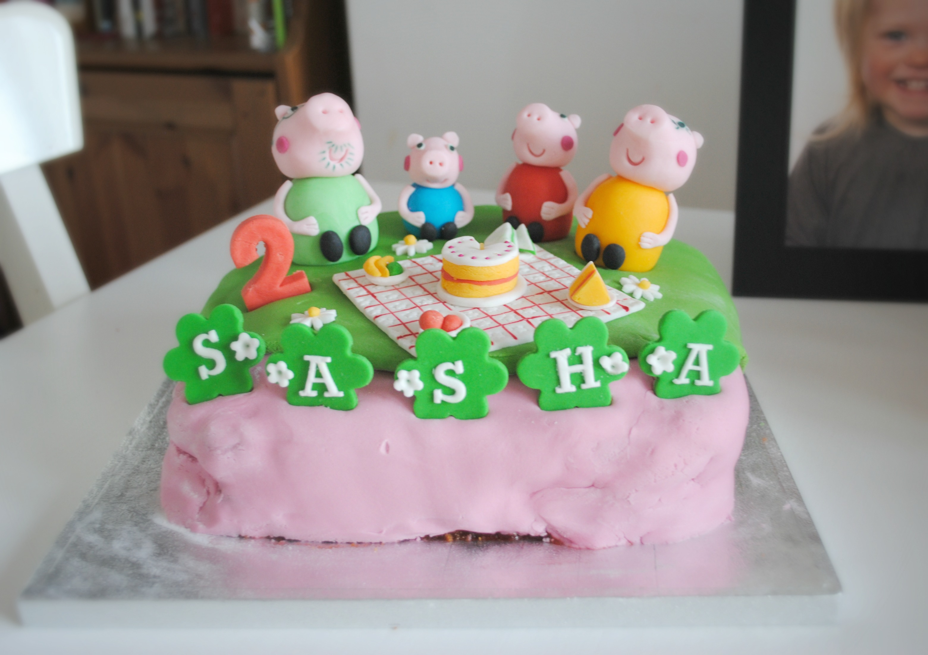 How To Make An Easy Peppa Pig Birthday Cake The Spirited Puddle Jumper