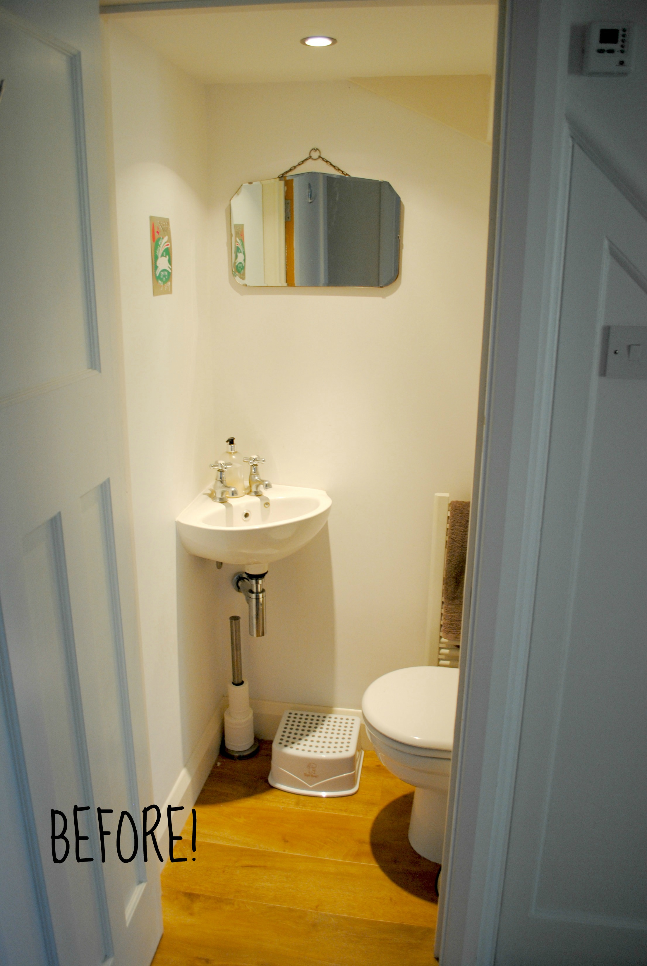 Downstairs Toilet Makeover The Spirited Puddle Jumper